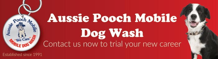 Aussie Pooch Mobile franchise business opportunity mobile dog pet dog wash franchise