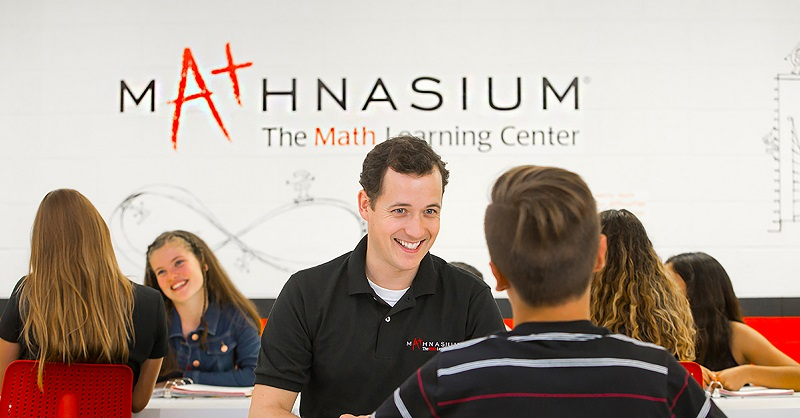 Mathnasium Tutor with student